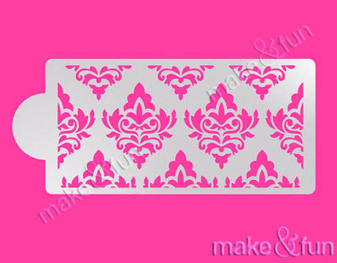 Damask Cake Stencil, Cookie Stencil, Decoupage|Damask Bordüre Torten Schablonen,Royal Icing