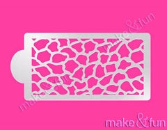Animal Print Cake Stencil, Face Painting Stencil||Animal Print Schablonen, Airbrush und Royal Icing