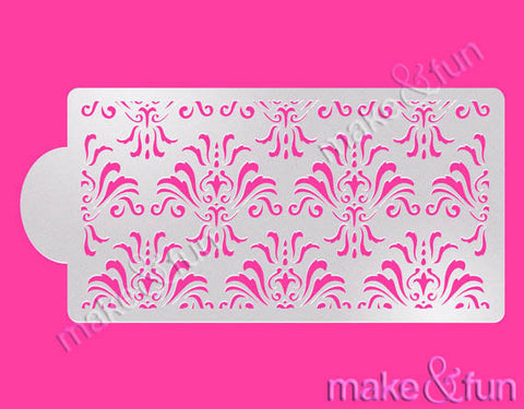 Damask Cake Stencil, Wedding Stencil, Royal Icing|Damask Bordüre Torten Schablonen,Royal Icing