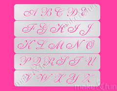 Cookie Letter Stencil, Airbrushing, Craft Stencil|Brief Schablone, Airbrush und Royal Icing