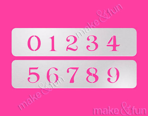 Cookie Number Stencil, Airbrushing, Craft Stencil|Nummer Schablone, Airbrush und Royal Icing