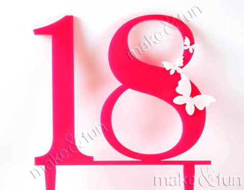 Cake Topper Birthday, Girl Birthday Decor| Torten Topper, Zahl Kuchen Topper
