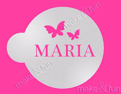 Custom Monogram Cookie Stencil, Airbrushing, Craft Stencil|Monogramm Schablone, Airbrush und Royal Icing