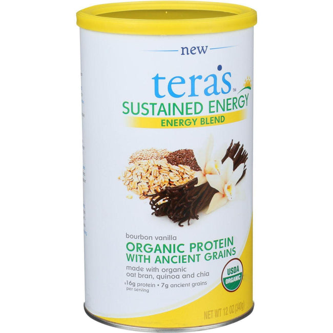 Tera's Whey Sustained Energy - Bourbon Vanilla - 12 Oz