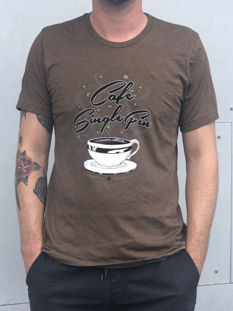 WBZ Single Fin Cafe Coffee T-s