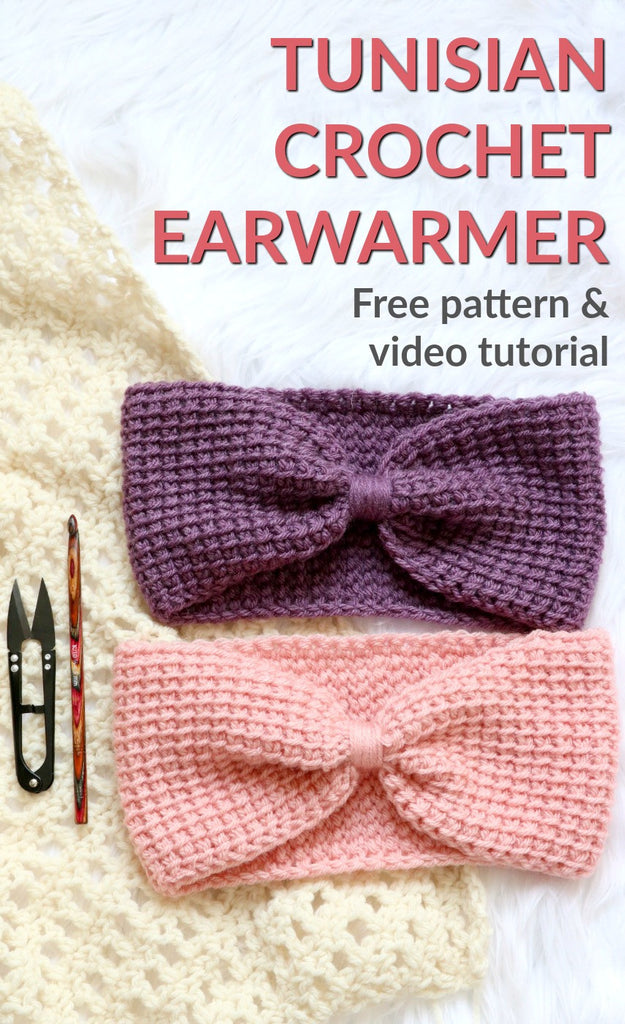 Make the Simple Tunisian Earwarmer *Free Pattern and Video Tutorial*