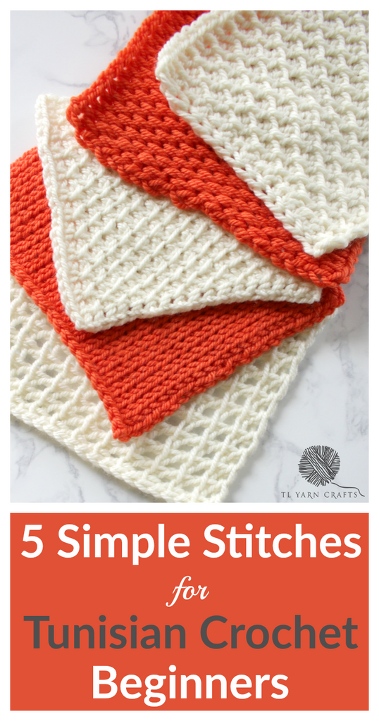 5 Simple Stitches For Tunisian Crochet Beginners Video Tutorial