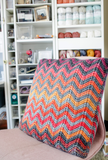 Easy Ripple Pillow // Tunisian Crochet PDF Pattern