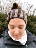 Honeycomb Tunisian Ear Warmer // Tunisian Crochet PDF Pattern