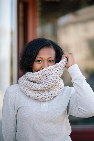 Level 4 Infinity Lite Snood // Crochet PDF Pattern