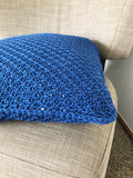 Log Cabin Throw Pillow // Tunisian Crochet PDF Pattern