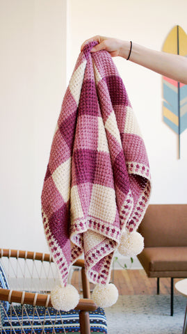 Sweet Gingham Baby Blanket // Crochet PDF Pattern