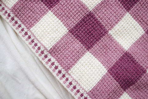 Sweet Gingham Baby Blanket // Tunisian Crochet PDF Pattern