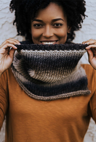 Mulled Cider Cowl // Tunisian Crochet PDF Pattern