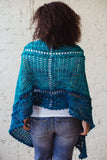 Serenity Shawl TL Yarn Crafts Spring Mother's Day crochet pattern prem knits hand dyed yarn
