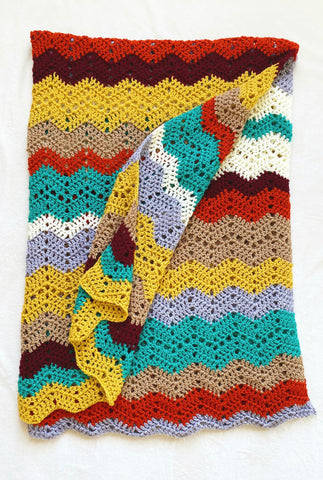 Autumn Skies Afghan // Crochet PDF Pattern