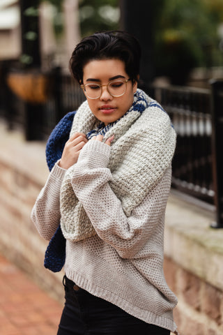 Ada Shawl & Ada Shawl XL // Tunisian Crochet PDF Pattern