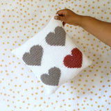 Jovial Hearts Crochet Pillow // Crochet PDF Pattern