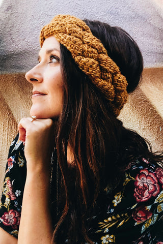 Braided Tunisian Ear Warmer // Tunisian Crochet PDF Pattern