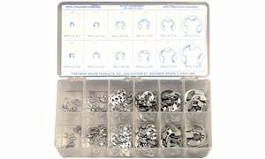 Precision Kit 265 Piece E-Clip Assortment - Discount Industrial Hardware Supply