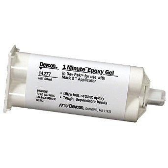 Devcon 1 Minute Epoxy Gel Amber 50ml - Discount Industrial Hardware Supply
