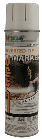 Seymour Stripe Inverted Tip Water Based Spray Paint - White - Discount Industrial Hardware Supply