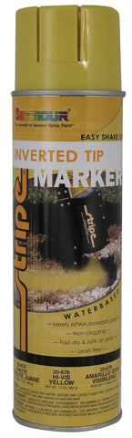 Seymour Stripe Inverted Tip Water Based Spray Paint - Hi Viz Yellow - Discount Industrial Hardware Supply