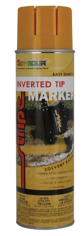 Seymour Stripe Inverted Tip Solvent Based Spray Paint - Utility Yellow - Discount Industrial Hardware Supply