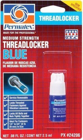 Permatex Medium Strength Threadlocker Blue 2.5ml Bottle - Discount Industrial Hardware Supply