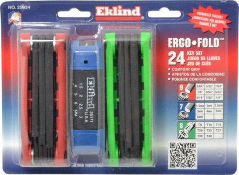 Eklind Ergo-Fold 24 Piece Steel - Discount Industrial Hardware Supply