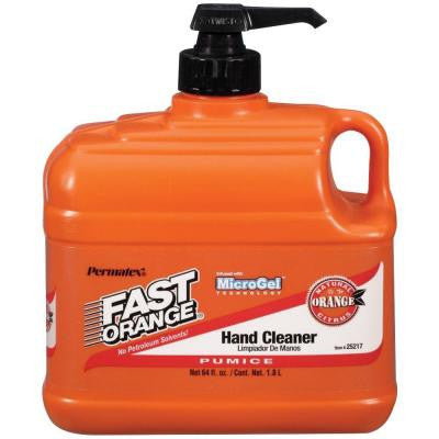 Fast Orange Pumice Hand Cleaner .5 Gallon Plastic Bottle w/ Pump - Discount Industrial Hardware Supply