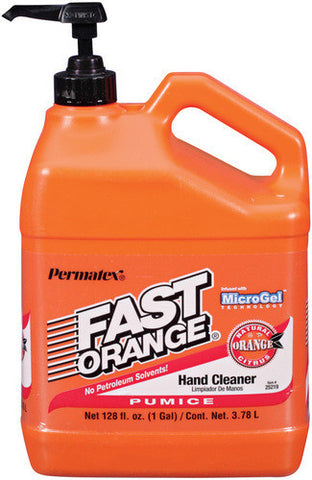 Fast Orange Pumice Hand Cleaner 1 Gallon Plastic Bottle w/ Pump - Discount Industrial Hardware Supply