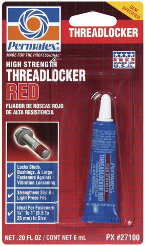 Permatex High Strength Threadlocker Red 6ml Tube - Discount Industrial Hardware Supply