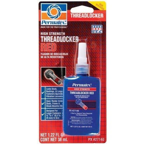 Permatex High Strength Red 36 ml Bottle - Discount Industrial Hardware Supply