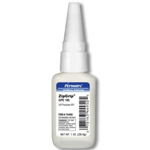 Permatex Zip Grip 100 All Purpose MV 1oz Bottle - Discount Industrial Hardware Supply
