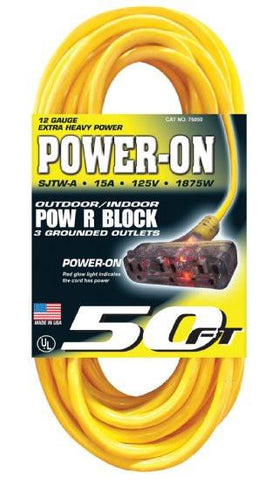 Us Wire Pow-R-Block 3-Grounded Outlets - Discount Industrial Hardware Supply