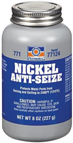 Permatex #771 Nickel Anti-Seize Maximum Temperature 1lb Brush Top Bottle - Discount Industrial Hardware Supply