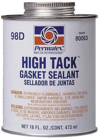 Permatex #98 High Tack Gasket Sealant 1lb Brush Top Cane - Discount Industrial Hardware Supply