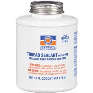 Permatex #14 Thread Sealant w/ Teflon 16oz Bottle - Discount Industrial Hardware Supply
