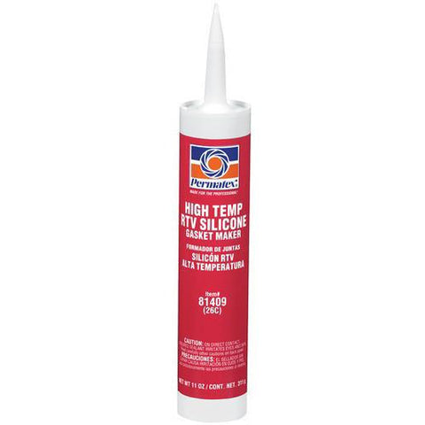 Permatex #26 High-Temp RTV Silicone Gasket Maker 11oz. Cartridge - Discount Industrial Hardware Supply
