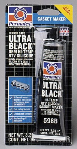 Permatex Ultra Black Max Oil Resistance Gasket Maker 3.35oz Tube - Discount Industrial Hardware Supply
