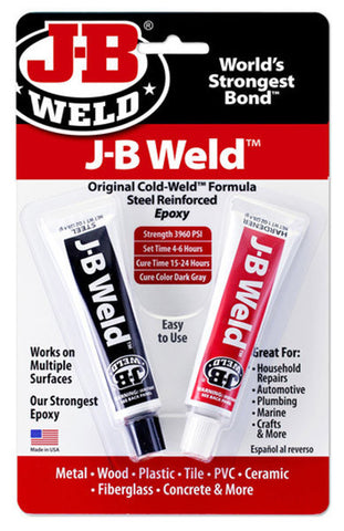 J-B Weld Twin Tube - (2) 1 oz Tubes - Discount Industrial Hardware Supply