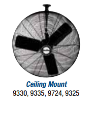 "Air King  30"" Oscillating Ceiling Mount Fan - Discount Industrial Hardware Supply"