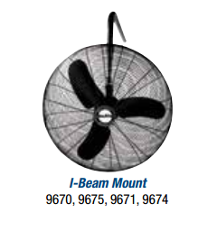 "Air King  30"" Oscillating I Beam Mount Fan - Discount Industrial Hardware Supply"