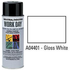 Work Day™ Aerosol Enamel Paints - Gloss White - Discount Industrial Hardware Supply