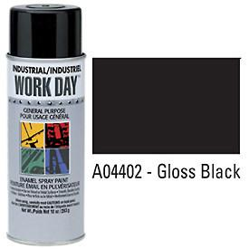 Work Day™ Aerosol Enamel Paints - Gloss Black - Discount Industrial Hardware Supply