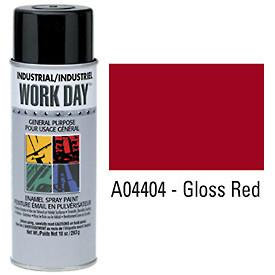 Work Day™ Aerosol Enamel Paints - Gloss Red - Discount Industrial Hardware Supply