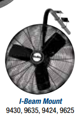 "Air King  24"" Oscillating I Beam Mount Fan - Discount Industrial Hardware Supply"