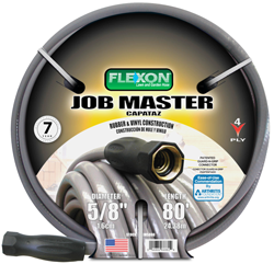Flexon Job Master 4-Ply Double Nylon Reinforced 5/8 80' Hose - Discount Industrial Hardware Supply