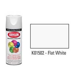 Krylon® Industrial Acryli-Quik™ - Flat White - Discount Industrial Hardware Supply